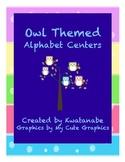 Owl Themed Alphabet Centers