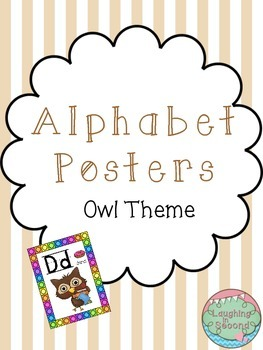 Owl Themed Alphabet Posters