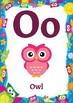 Classroom Decor-Owl Themed Alphabet Posters