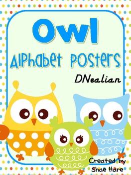 Owl Themed Alphabet Posters {Hoot Bird} DNealian Font