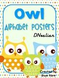 Owl Themed Alphabet Posters Classroom Decor