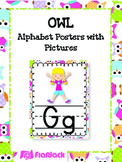 Owl Themed Alphabet Posters with Pictures