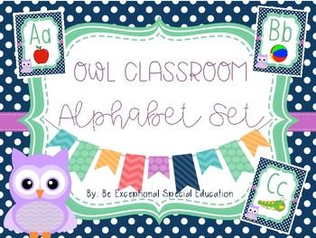 Owl Themed Alphabet Poster Set