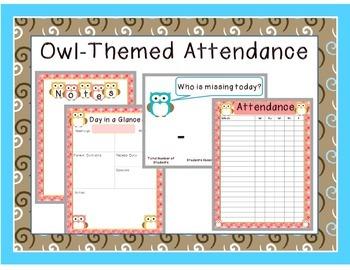 Owl Themed Attendance