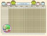 Owl Themed Attendance Sheet
