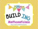 Owl Themed - BUILD Math Centers Routine