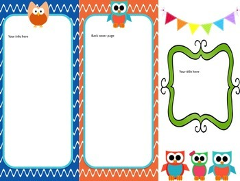 Owl Themed Beginning of the Year Welcome Bundle