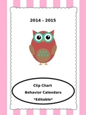 Owl-Themed Behavior Calendars {EDITABLE & Updated Each Sch