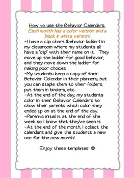 Owl-Themed Behavior Calendars {Updated Each School Year}
