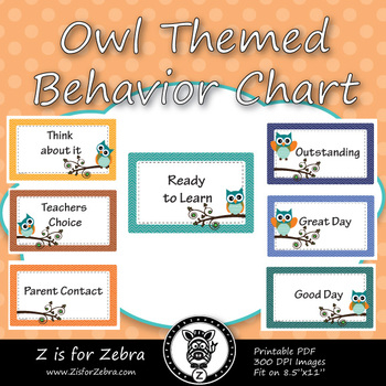 Owl Themed Behavior Chart