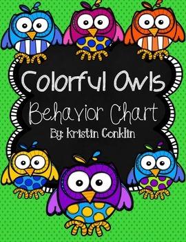 Owl Themed Behavior Chart