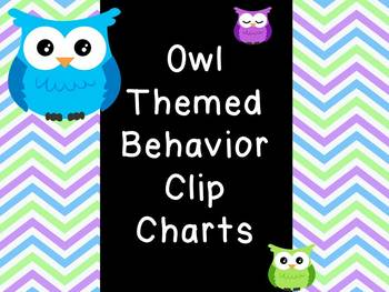 Owl Themed Behavior Chart (2 styles!!)