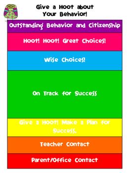 Owl-Themed Behavior Chart