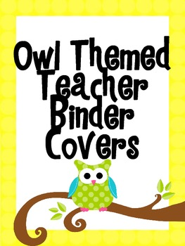 Owl Themed Binder Covers