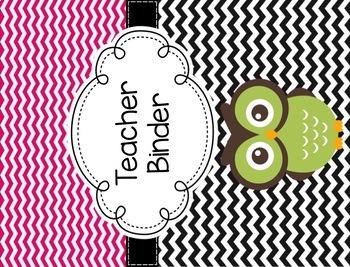 Owl Themed Binder Covers and Spines {Editable}