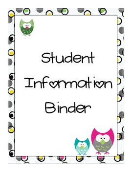 Owl Themed Binder Covers by Sassy and Sleepless