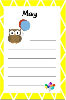 Owl Themed Birthday Graph, Monthly News Letter Template&Name Tags&Plates: