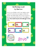 Owl Themed Birthday and Blank Label Cards