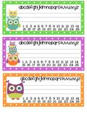Owl Themed Blank Nameplates