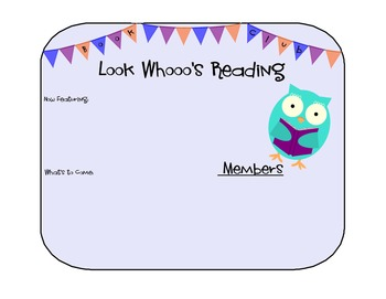 Owl Themed Book Club for Guided Reading