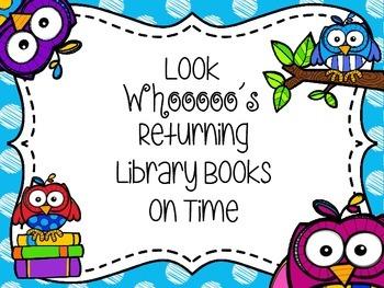 Owl Themed Book Return Reward Bulletin Board Set