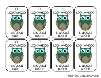 Owl-Themed Brag Tags