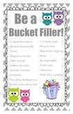 Owl Themed Bucket Filler Poster