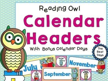 Owl (Reading Owl) Themed Classroom Decor Bundle