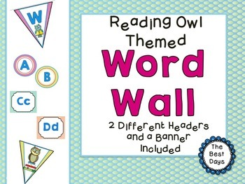 Owl (Reading Owl) Themed Classroom Decor Bundle