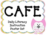 Owl Themed CAFE Poster Set with Definitions! Now in DJ Chunky Font!