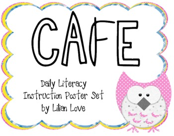 Owl Themed CAFE Poster Set with Definitions!
