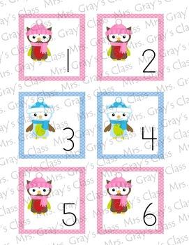 Owl Themed Calendar Cards - January