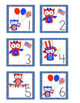 Owl Themed Calendar Cards - July