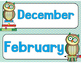 Owl (Reading Owl) Themed Classroom Decor:   Calendar Headers