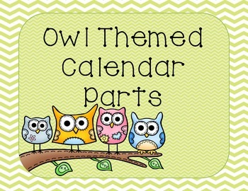 Owl Themed Calendar Pack