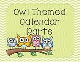 Owl Themed Calendar Pack