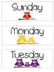 Calendar Set - Owl Themed
