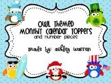 Owl Themed Calendar Toppers