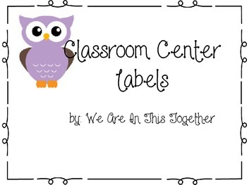 Owl Themed Center Labels
