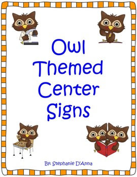 Owl Themed Center Signs