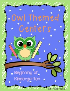 Owl Themed Centers for the Beginning of the Year