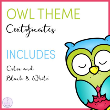 Owl Themed Certificates
