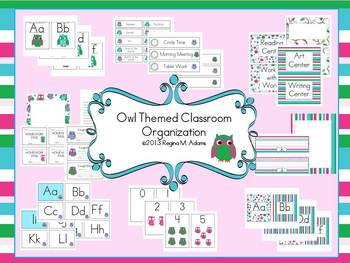 Owl Themed Classroom Decoration and Organization