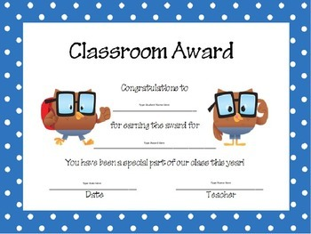 Owl Themed Class Award Pack