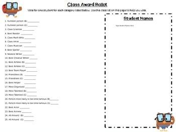 Owl Themed Class Award Pack