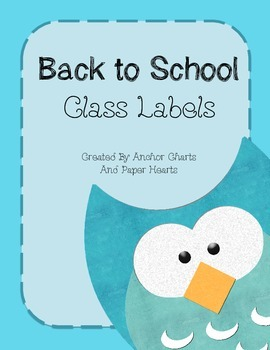 Owl Themed Class Labels