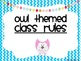 Owl Themed Class Rules
