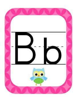 Owl Themed Classroom ABC's