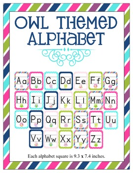 Owl Themed Classroom ABC's