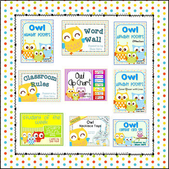 Owl Themed Classroom Decor BUNDLE [Back to School]